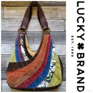 Lucky Brand Boho Patchwork Hobo Bag